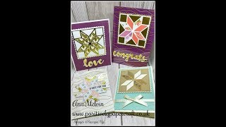 How To Use The Christmas Quilt Bundle From Stampin Up! thumbnail
