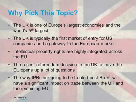Webinar Playback: IP in Europe Post-Brexit: Registrations, Enforcement and Other Questions
