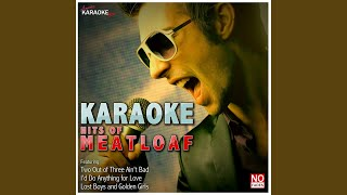 Life Is a Lemon (In the Style of Meatloaf) (Karaoke Version)