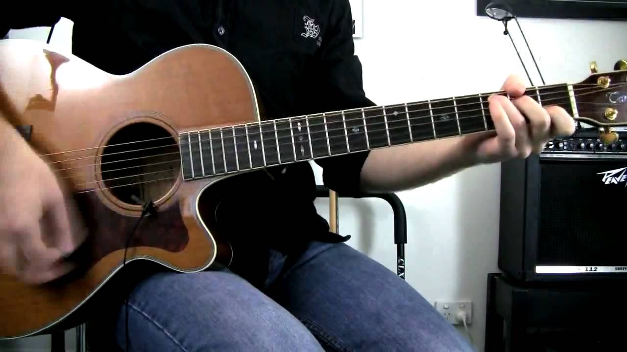 Push Matchbox 20 Rob Thomas Acoustic Guitar Cover How To