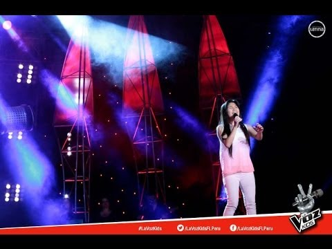 """Shania canta """"Mi reflejo"""" - La Voz Kids Perú - Audiciones a ciegas - Temporada 1"""