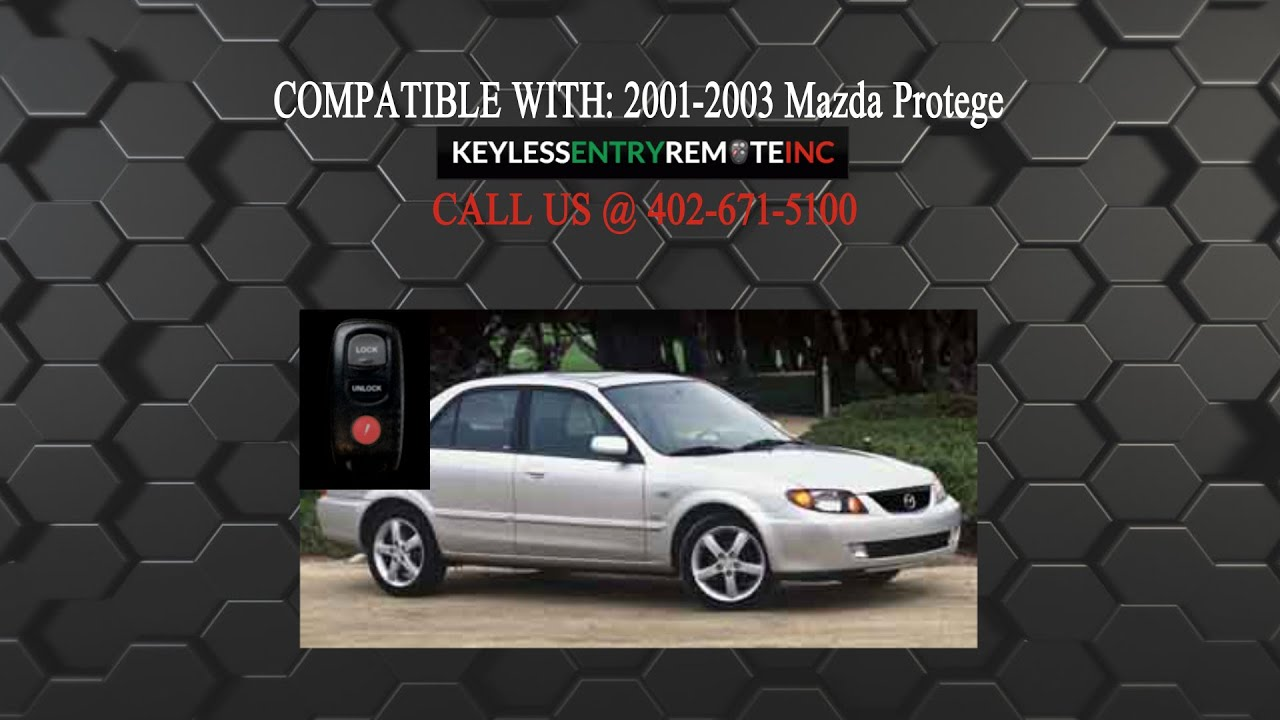 how to replace mazda protege key fob battery 2001 2002 2003 youtube