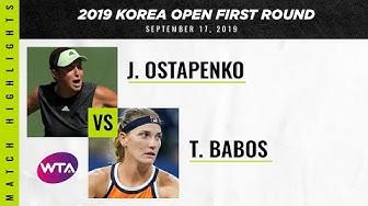 Jelena Ostapenko vs. Timea Babos | 2019 Korea Open | WTA Highlights
