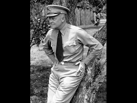 General Dwight D. Eisenhower Memorial At Soldiers Walk Memorial Park in Arcadia Wisconsin