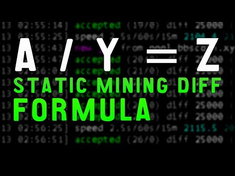 Cryptocurrency Static Mining Difficulty Efficiency Formula