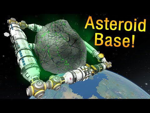 KSP - Building a Station around a Magic Asteroid!