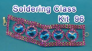 Jewelry Soldering Class Kit 96 - Rhinestone Chain Bracelet