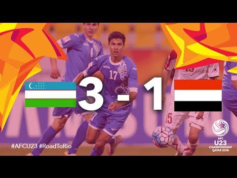UZBEKISTAN Vs YEMEN: AFC U23 Championship 2016 (Group Stage)