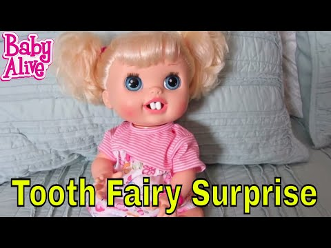 Baby Alive Real Surprises Doll loses a tooth.  Tooth Fairy Surprise!
