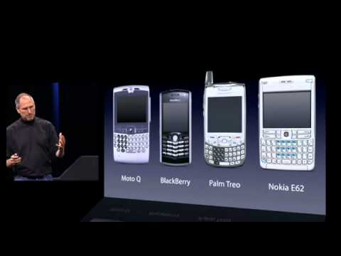 Steve Jobs introduces iPhone in 2007