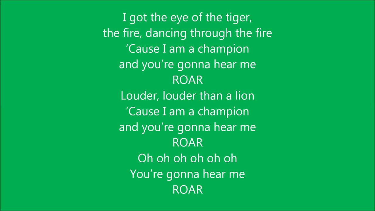 Lyrics Of Roar Sung By Katy Perry