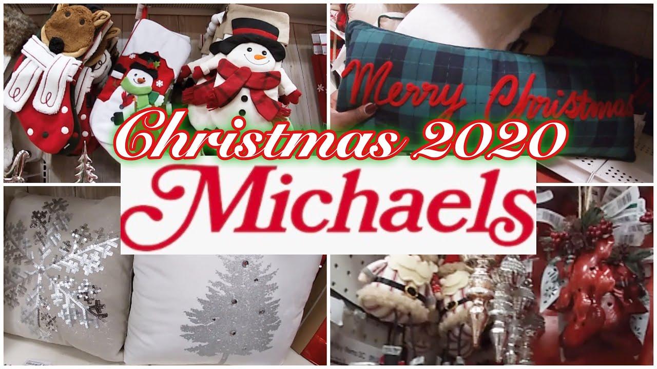 Michaels Christmas 2020 Sneak Peek Virtual Shopping Youtube