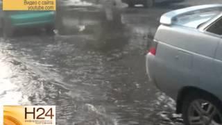 Несколько центральных улиц Саратова затопило водой