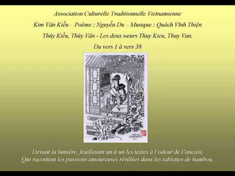 Truyện Kiều 01- Thúy Kiều Thúy Vân - Histoire de Kiều - Les deux soeurs Thuy Kieu et Thuy Vân.avi