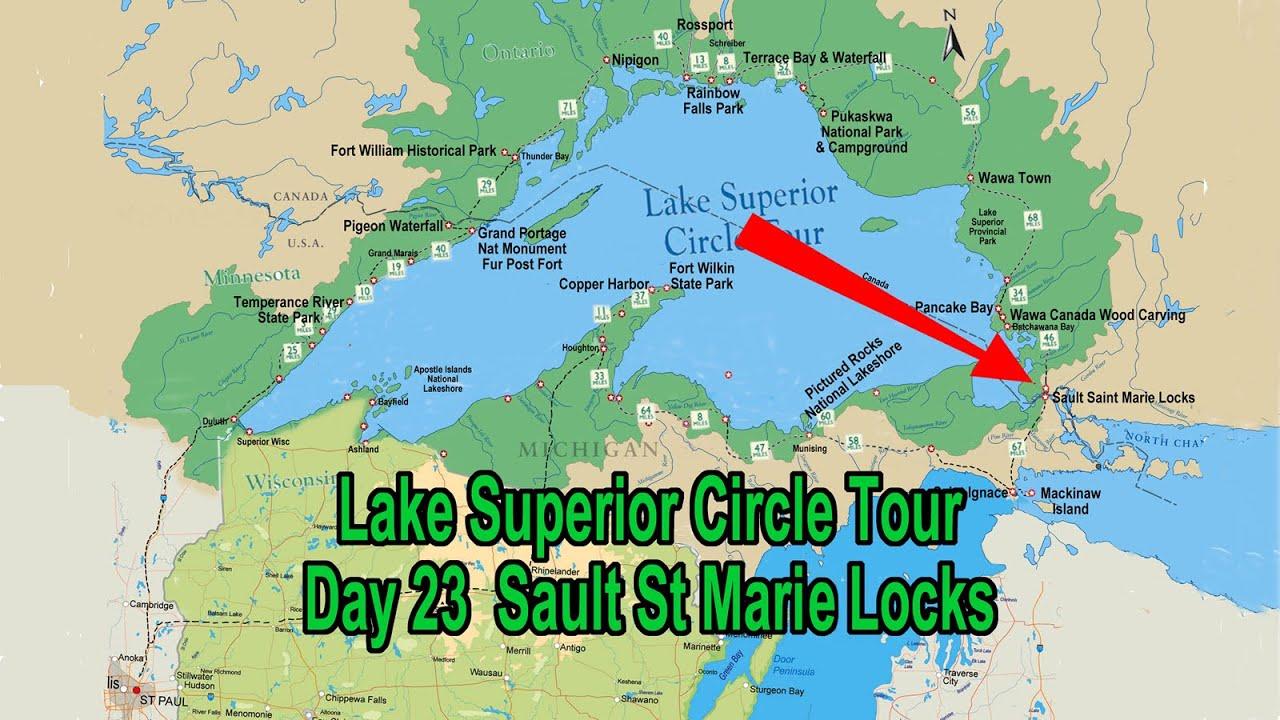 Sault Ste Marie Locks Michigan July Lake Superior Circle Tour - Lake michigan circle tour map