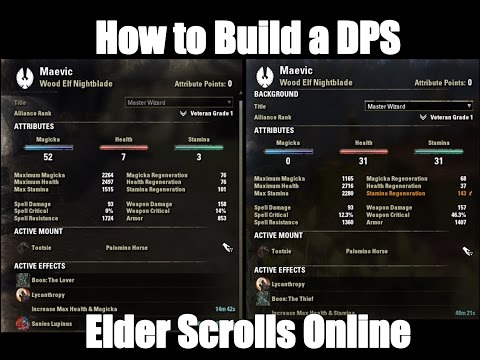 How to build a DPS character in Elder Scrolls Online