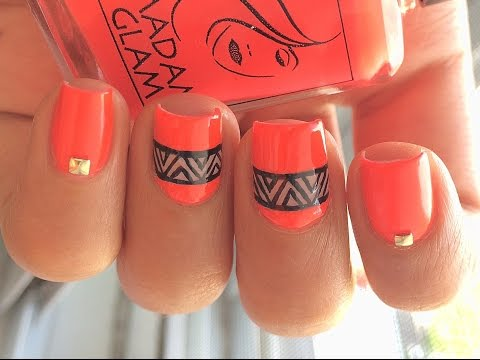 Easy Neon Nail Art | Madam Glam