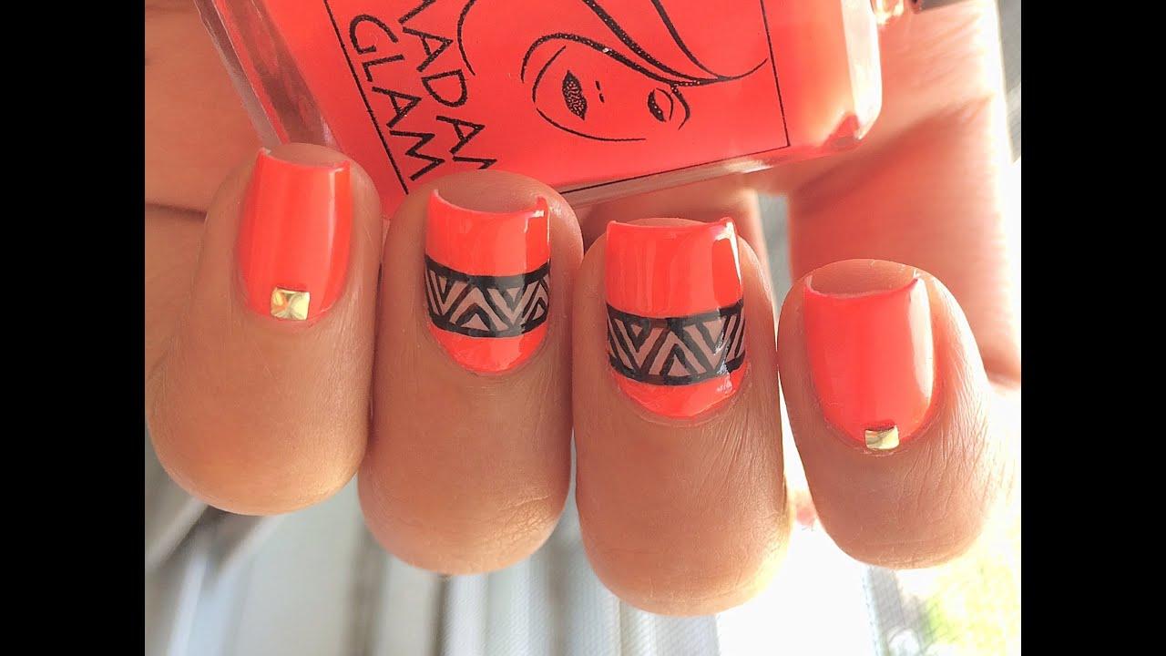 Easy Neon Nail Art