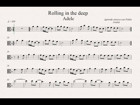 ROLLING IN THE DEEP:  Viola  (partitura con playback)