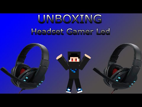 HEADSET GAMER LED - Unboxing