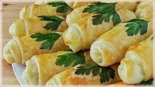 Пирожки с кабачками, зелёным луком и яйцами