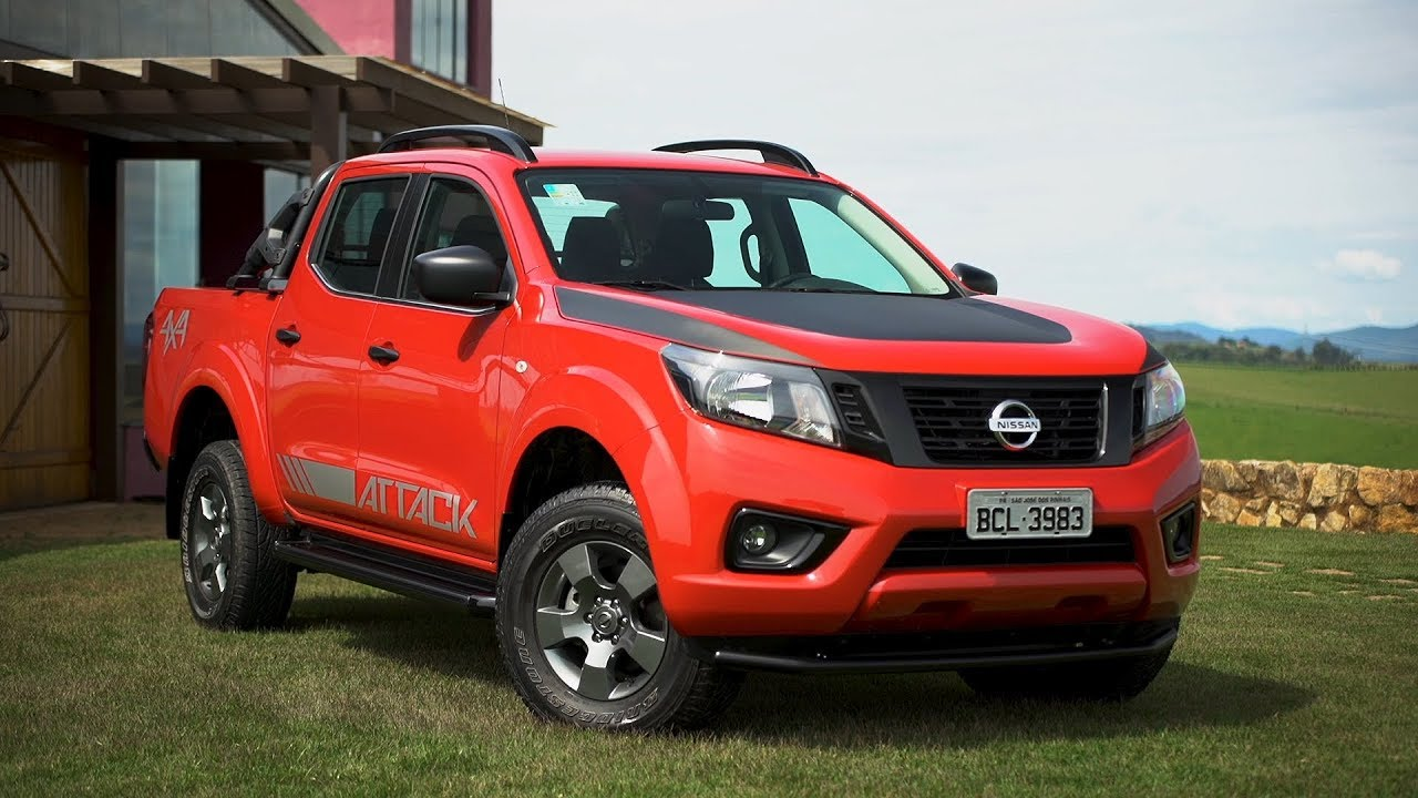 2019 Nissan Frontier Attack Burning Red Exterior Interior Brazil Youtube