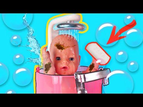 Купаем Беби Бон под душем. Видео для девочек /Зырики ТВ
