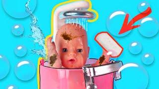 Куклы Пупсики Моются /Новый душ для Беби Бона/ Рома наелся конфет и испачкался/Зырики ТВ