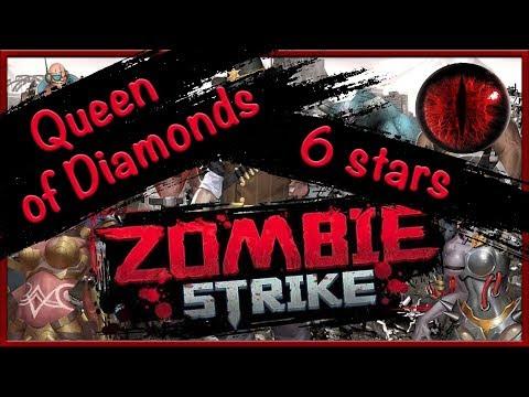 Zombie Strike: Бубновая Дама 6* звезд. Каньон. Queen Of Diamonds.