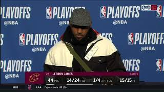 LeBron James on The Hunger Games, past buzzer-beaters, Cedi Osman | CAVS-PACERS POSTGAME