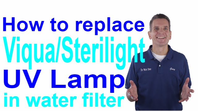 how to replace viqua/sterilight uv lamp in water filter -