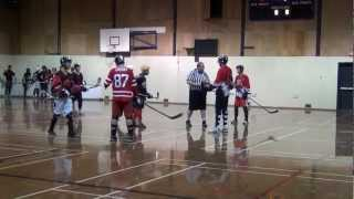 Pacific Jaguars vs. Rage - Period 1 (01/12/13) Ball Hockey Videos