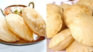 How to make Instant Bhature for Chole Video Recipe | Puffed Puris Bhavna's Kitchen
