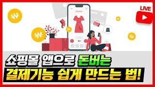 [앱만들기] 쇼핑몰 앱, 돈버는 결제기능! 저랑 같이 …