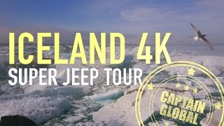 Iceland Amazing Super Jeep Tour in 4K - The Best Sights