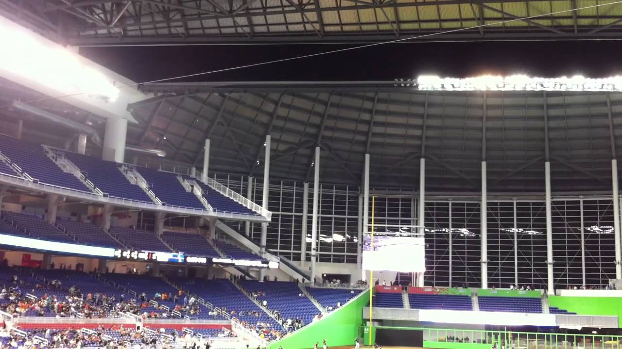 Marlins Park Roof Closing Youtube
