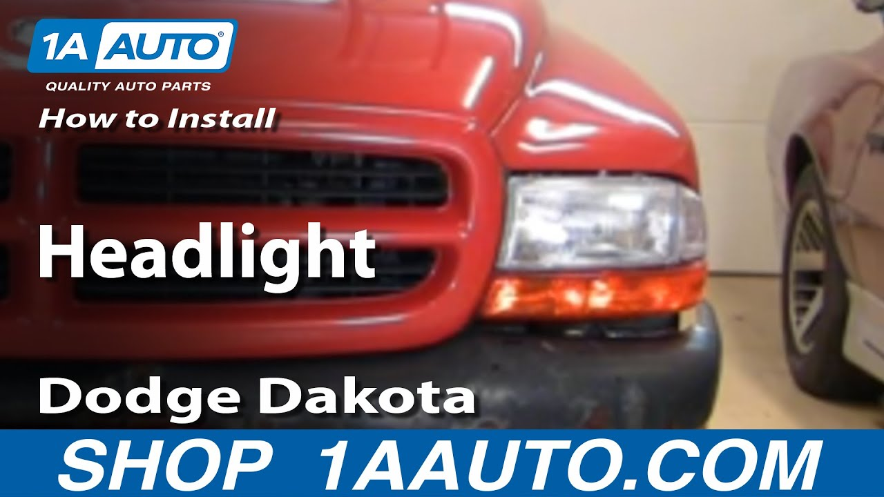 maxresdefault how to install replace headlight dodge dakota durango 97 04 1aauto  at webbmarketing.co