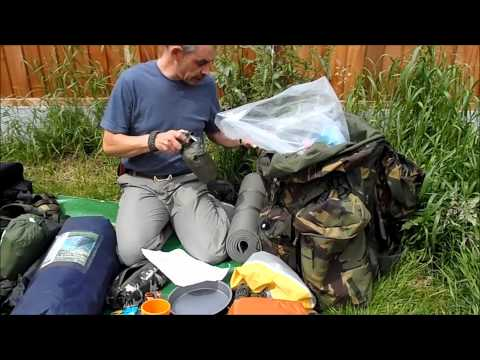 Bushcraft: Frontier Bushcraft Elementary course, packing kit.