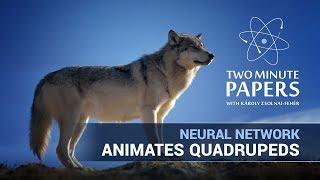 This Neural Network Animates Quadrupeds