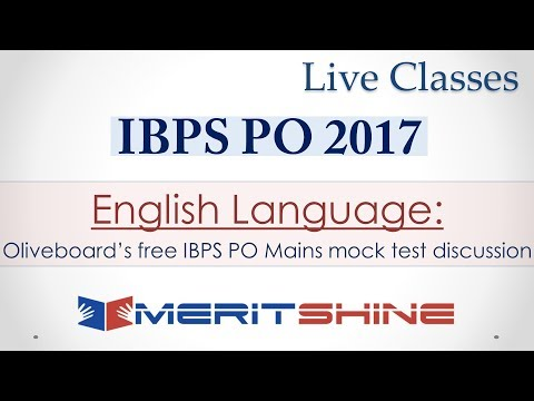 Oliveboard's free IBPS PO Mains mock test discussion (English Language)