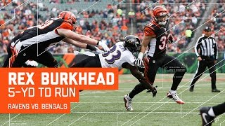 Rex Burkhead's Amazing TD Run! | Ravens vs. Bengals | NFL Week 17 Highlights