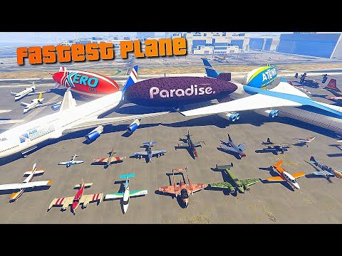 GTA V Online Which is fastest Plane/Jet | Top Speed