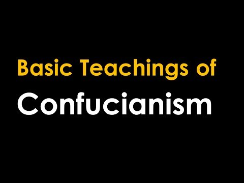 Basic Teachings of Confucianism