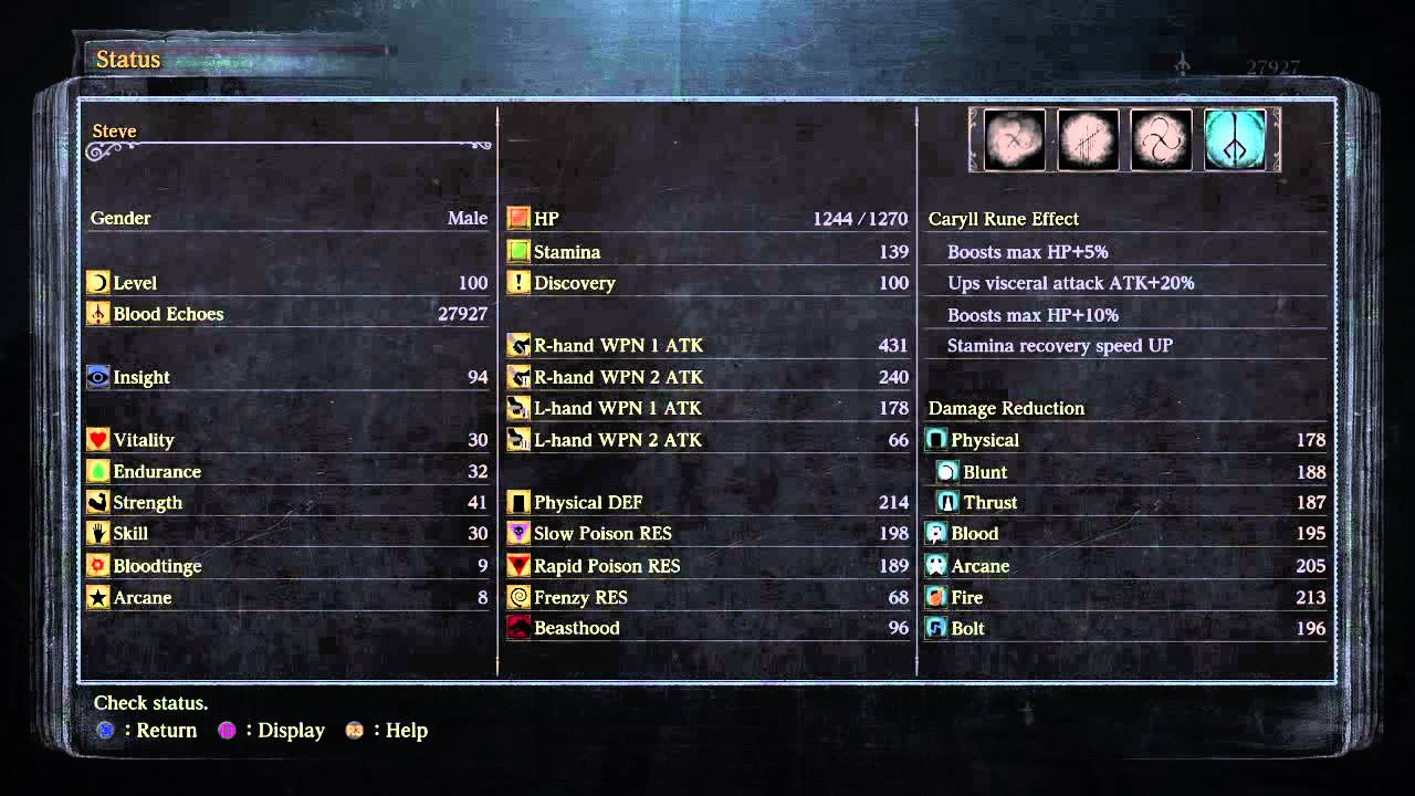 how to make a build in bloodborne