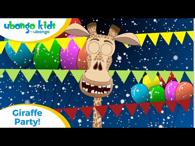 EPISODE 22: Giraffe Party! | Ubongo Kids | African Educational Cartoons