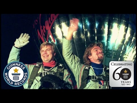 First Trans-Atlantic Crossing in a Hot Air Balloon - Guinness World Records 60th Anniversary