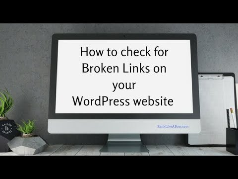 How to check for Broken Links on your WordPress website with Broken Link Checker Plugin [4:46] 2018