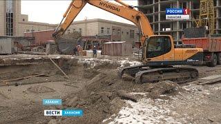 В Абакане строители разрушают древнейшие захоронения 14.11.2016
