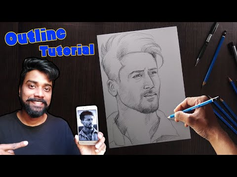 Drawing Tiger Shroff Step by Step | Outline Tutorial