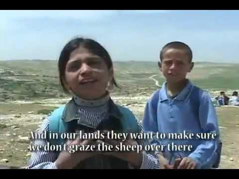 Jew Settlers Stone Palestinian Christian Children walking by